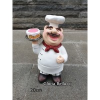 patung pajangan chef kue cake miniatur koki cafe restoran