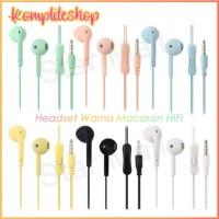 Handset/earphone/handfree macaron u19 hifi/macaron colormate extrabass