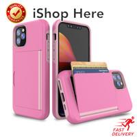 Casing Dompet Kartu Card Anti Crack Bumper Case iPhone 11 11 Pro Max
