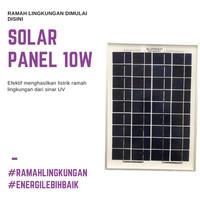 Pembangkit Listrik Tenaga Surya Solar Panel 10 W Ramah Lingkungan