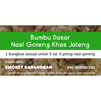 Untuk Cafe: Bumbu Nasi Goreng Khas Jawa Tengah