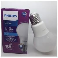 LAMPU PHILIPS LED BULB 6 WATT LAMPU HEMAT ENERGI 6 WATT