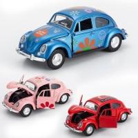 Diecast 1/36 mobil Volkswagen VW beetle kodok reguler mainan anak