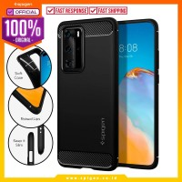 Case Huawei P40 Pro Spigen Carbon Fiber Rugged Armor Softcase Casing