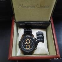 Jam Tangan Alexandre Christie AC 6341MC Rose Gold Second Komplit Box