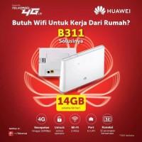 Mifi Modem Wifi Router 4G Huawei B310 UNLOCK Free Telkomsel 14Gb