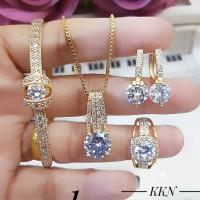 xuping set perhiasan lapis emas c727