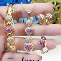 xuping set perhiasan lapis emas c707