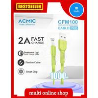 kabel data fast charging micro usb acmic original - Kuning