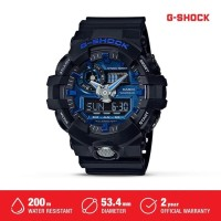 Casio G-Shock Jam Tangan Digital Analog Pria GA-710B-1A2DR Black Ori