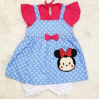 Baju Anak Bayi Perempuan Overall Anak Tsum2 Polkadot