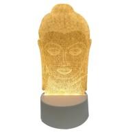 Lampu Tidur Hias 3D Acrylic - Lampu Hias 3D Transparant