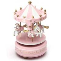 Kotak Musik Musical Box Carousel 2056B Merry Go Round
