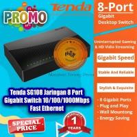 Tenda SG108 8-Port Gigabit Desktop Switch Plug-and-Play - MURAH