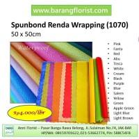 Renda Spunbond (1070), 1 lbr, Aksesoris toko bunga, Kertas kain