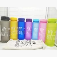 My Bottle colour doff pouch serut Botol Minum 500ml