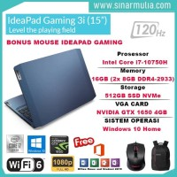 Lenovo Gaming 3i Core core i7-10750H 16GB 512GB SSD GTX 1650 4GB win10