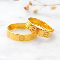 Cincin cartier premium emas asli kadar 875