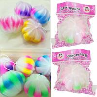 Bath Sponge Model Bulat Rainbow Spon Mandi SPB002SHB