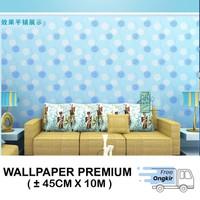 Wallpaper Stiker Dinding Motif Dandelion Pink Ukuran 45cmx10m - SD