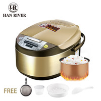 HAN RIVER Rice Cooker Smart touch screen Penanak nasi 2L - GOLD