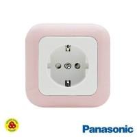 Panasonic Stop Kontak CP WEJP 1121TN Pastel Pink Socket with Pengaman