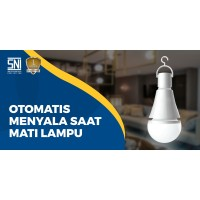 Lampu Emergency Magic 7w GARANSI+SNI - Nyala Otomatis (HARGA GILA!!)