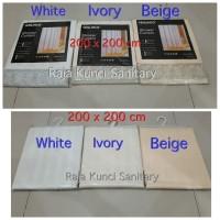 Shower Curtain Tekstil 200 x 200 cm/Tirai Kamar Mandi Tebal Waterproff