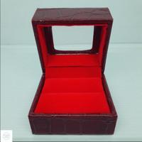 Kotak Cincin Pernikahan Tunangan Souvenir - Merah