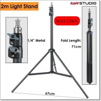 Portable Light Stand Tripod 16mm 1/4 Thread 3 Section 200cm for Studio