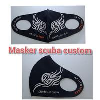 masker scuba custom sablon logo PO 3-4 hari