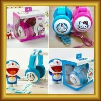 Headphone Bando Karakter Doraemon Hello Kitty Earphone Anak Jack 3.5mm