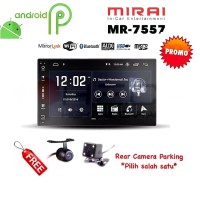 "MIRAI MR-7557 Android 7"" Head Unit Double din Tape MR7557 + Camera"