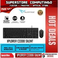 Alcatroz Xplorer C3300 Silent Keyboard & Mouse Combo