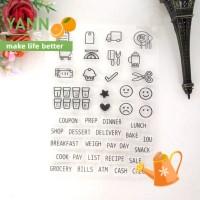 Stempel Karet Transparan Motif Makanan Untuk Scrapbook/Craft Diy