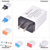 Tcid Fast Quick Charge QC 3.0 USB Wall Charger Power Adapter US EU