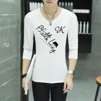 Kaos T-Shirt Lengan Panjang Motif Print OK Ukuran Besar