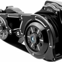 """BDL Black 2"""" Open Primary Kit Upgrade Belt Drive Harley 17-18 Tou"""