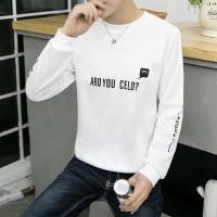 Besar Kaos T-Shirt Lengan Panjang Motif Print Ukuran