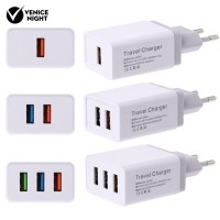 1/2/3 USB Port 5V/4A Wall Charger Mobile Phone AC Power Adapter