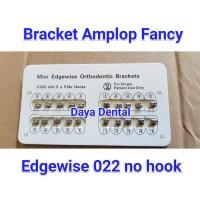Dental Bracket Amplop Fancy 0.22 no hook edgewise/bracket behel gigi