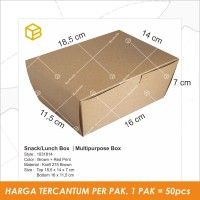 Lunch Box, Box Makanan, Dus Snack, Dus Kue, Snack Box - LB1031814