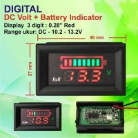 Battery Capacity Tester Indicator for 10V 13V / Baterai Meter Accu Aki