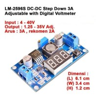 Step Down 3A LM2596S With Digital Voltmeter 1,25V-35V DC-DC ADJUSTABLE