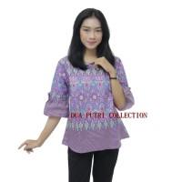 Atasan Batik Blouse Batik Wanita S-M-L-XL-XXL-3L-4L-5L Lengan Terompet