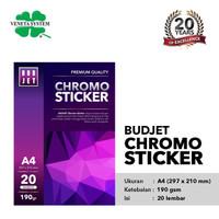Kertas Stiker Kromo Cromo Glossy Sticker / Budjet Chromo Sticker A4