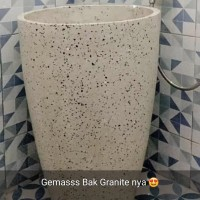 Bak Mandi Granit Gelas