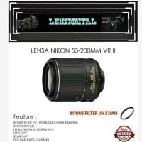 Lensa Nikon 55-200MM VR ll-Lensa Kamera Nikon AF-S DX 55-250MM