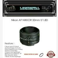 NIkon AF NIKKOR 50mm F/1.8D-Lensa Nikon 50mm F1.8D for Kamera SLR