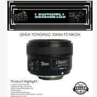 Lensa Yongnuo 35MM F2 NIKON-Lensa FIX YN 35MM F2N